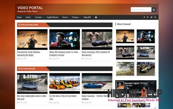 Video Portal Responsive Blogger Template hindi me help