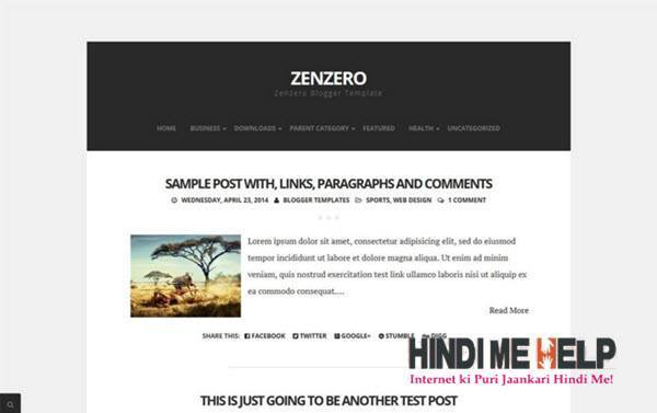 Zenzero Responsive Blogger Template hindi me help