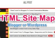 HTML Sitemap Page kaise banaye Blogger or Wordpress me uski jankari