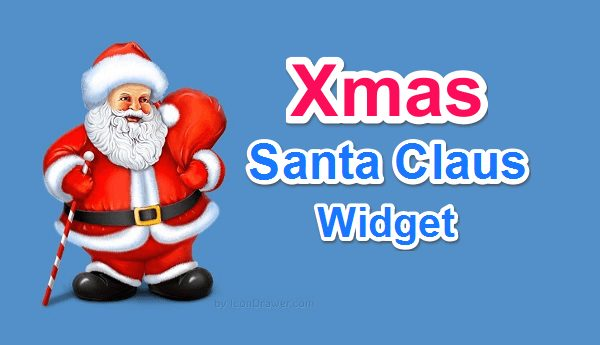Xmas Flying Santa Claus Widget for Blogger or wordpress ke liye