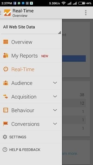 google analytics android app hindi me help