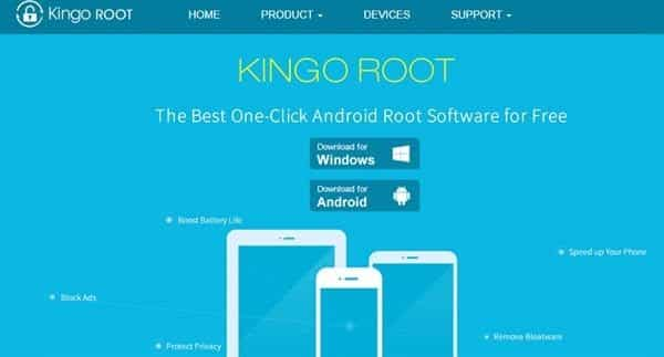 kingoroot softare ki site se download kare mobile root karne ke liye