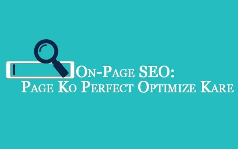 On Page SEO Opmization in hindi