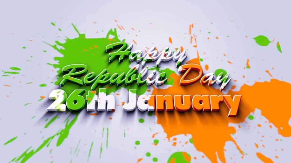 26 january Happy Republic Day Message, Wallpaper, Status HD