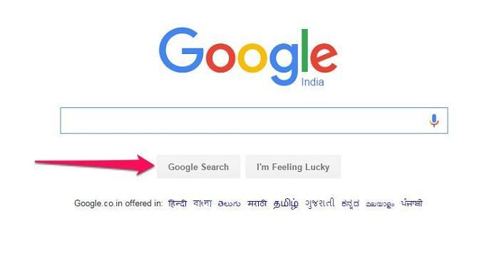 Google Search Button ki jankari
