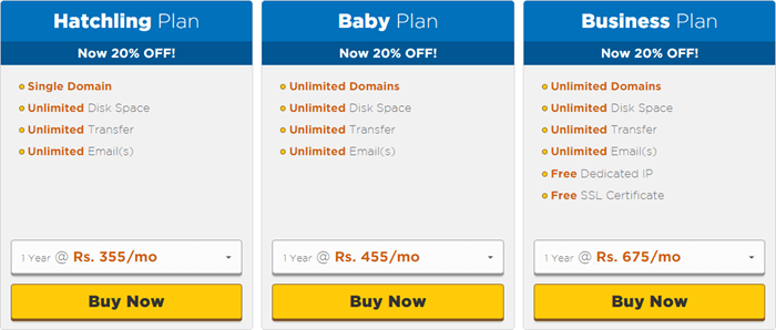 hostgator ke share hosting plan ki jankari in hindi
