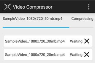 video compress hoga to aesi process chalegi