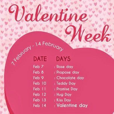 Valentine hafte me kya kya or kis din hota hai uski puri list