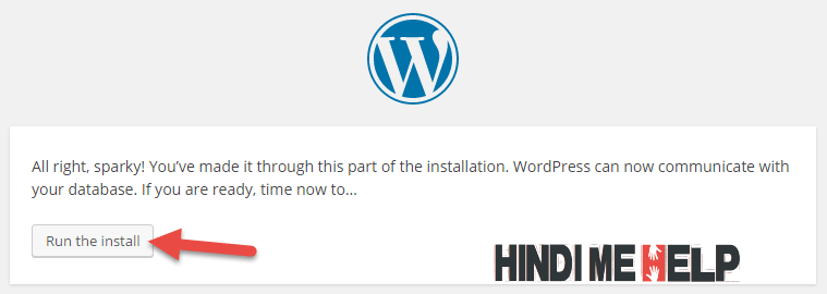 ab database se wordpress connect ho gaya hai,.. ab wordpress install kare