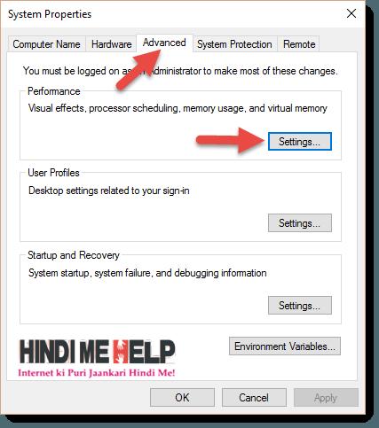 Advanced ke baad setting par click kare RAM Badane ke liye