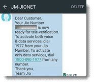 Joi SMS verify code verifucation ke liye