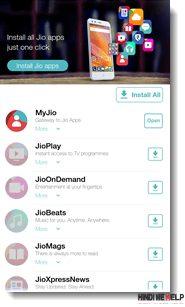 My Jio Apps pure Appks ko Install kare Mobile me