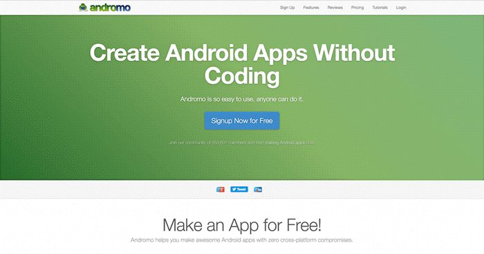 andromo se android app banaye