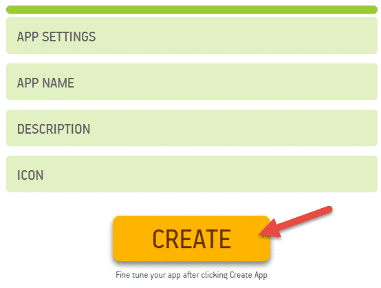 puri steps follow karne ke baad create app par click kare