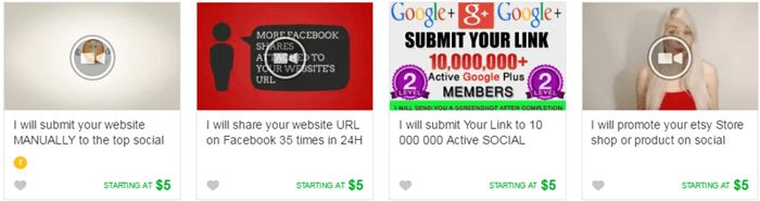 Sharing Promotional Link on Social Media in fiverr