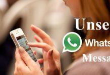 WhatsApp Message Unsend undo kare [New Update]
